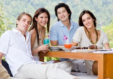 Friends Having Lunch Royalty Free Stock Images