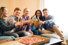 Friends having party royalty free stock photos