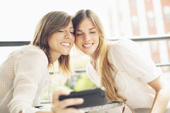 Friends having taking a selfie Stock Photography