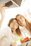 Friends having taking a selfie Royalty Free Stock Photography