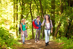 Friends on a hike Royalty Free Stock Photos
