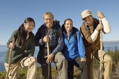 Friends Hiking Royalty Free Stock Photography