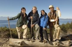 Friends Hiking Royalty Free Stock Images