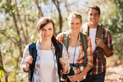 Friends hiking mountain Royalty Free Stock Photo