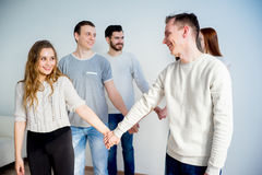 Friends holding hands Royalty Free Stock Photo
