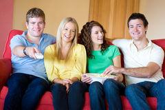 Friends At Home Stock Photography