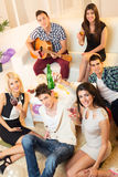 Friends At Home Party stock image
