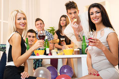 Friends At House Party Royalty Free Stock Photos