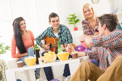 Friends At House Party Royalty Free Stock Image