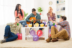 Friends At House Party Stock Image
