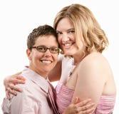 Friends Hugging stock photo