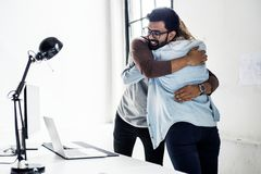 Friends hugging happy expression happiness royalty free stock photo