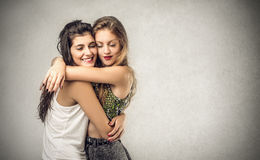 Friends hugging Royalty Free Stock Photography
