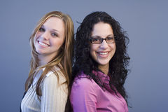 Friends I. Blond and brunette Royalty Free Stock Photos