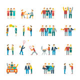 Friends icons flat Royalty Free Stock Photography
