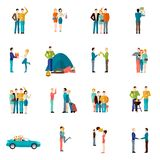Friends Icons Set Stock Photo