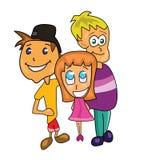 Friends illustration. Vector illustration of three friends Stock Photos