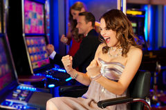 Free Friends In Casino Stock Image - 22131201