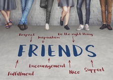 Friends Inspiration Diagram Graphic Concept stock photography