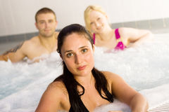 Friends in the jacuzzi Stock Image