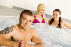 Friends in the jacuzzi Royalty Free Stock Photo