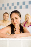Friends in the jacuzzi Stock Images