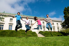 Friends Jumping Royalty Free Stock Images