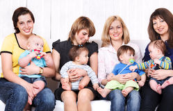 Friends  with kids Stock Photos