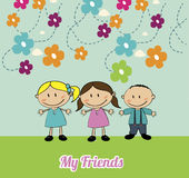 Friends kids Stock Image