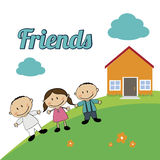Friends kids Royalty Free Stock Photo