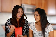 Friends In Kitchen Stock Photography