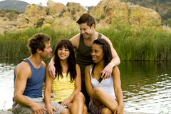Friends lake Royalty Free Stock Photo