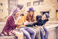 Friends laughing Royalty Free Stock Photography