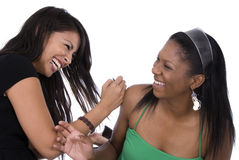 Friends laughing together. royalty free stock photo