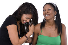 Friends laughing together. Stock Photo