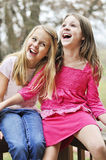 Friends laughing Stock Photography
