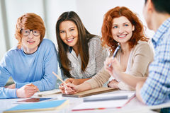 Friends at lesson Stock Photography