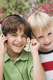 Friends Listening To Music Royalty Free Stock Photography