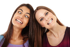 Friends making funny faces Stock Photo
