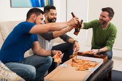 Friends making a toast with beer Stock Photography