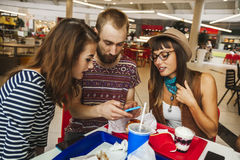 Friends In Mall Royalty Free Stock Photo