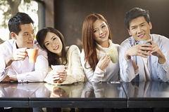 Friends meeting in cafe Stock Photography