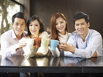 Friends meeting in cafe Royalty Free Stock Image