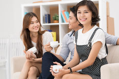 Friend�s meeting Stock Images