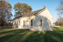 Friends Meeting House in West Branch. Iowa at Herbert Hoover National Historic Site royalty free stock photo