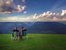 Friends in mountain Royalty Free Stock Image
