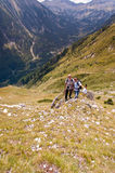 Friends on Mountain Pirin Royalty Free Stock Photography