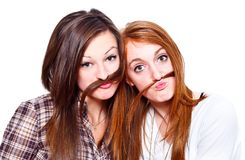 Friends with moustache Stock Photography