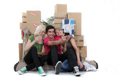 Friends Moving In Together Stock Photography
