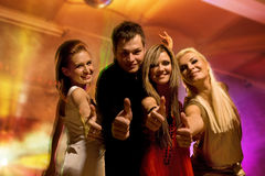 Friends in the night club Royalty Free Stock Photography